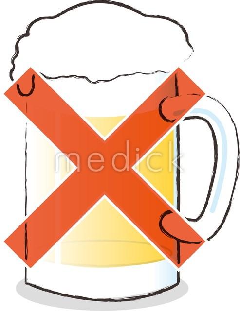 アルコールはngのイラスト 医療のイラスト写真動画素材販売