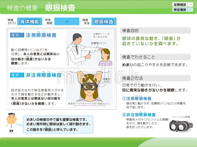 眼振検査の説明スライド - 医療...