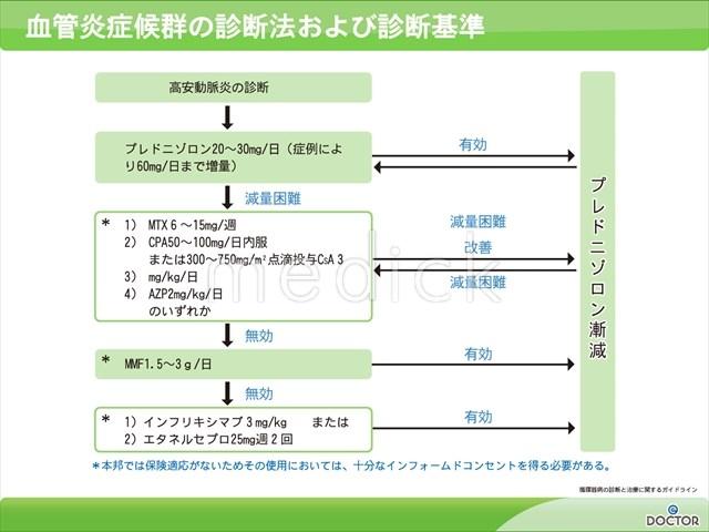 血管炎症候群の診断法および診断基準の説明スライド - 医療のイラスト ...