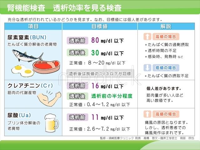 腎 機能 検査 値