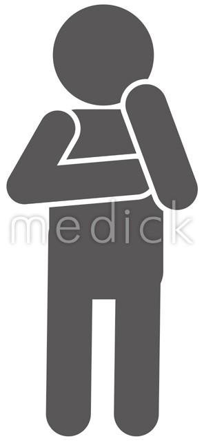 悩む 考える人のイラスト アイコン 医療のイラスト 写真 動画 素材販売サイトのメディック Medick