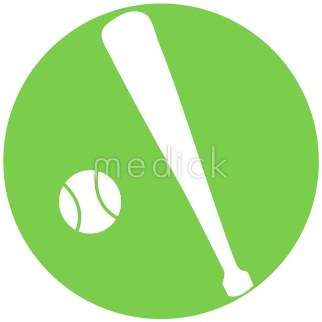 野球ソフトボールのイラストアイコン 医療のイラスト写真