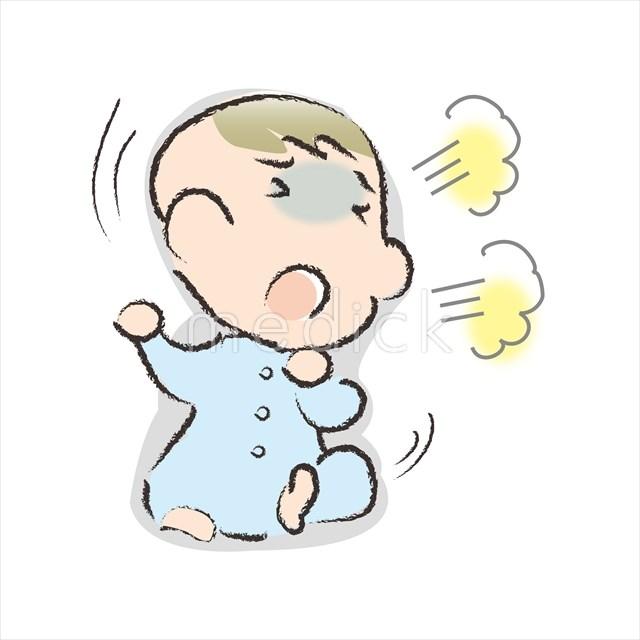 苦しそうな赤ちゃんのイラスト 医療のイラスト写真動画素材販売