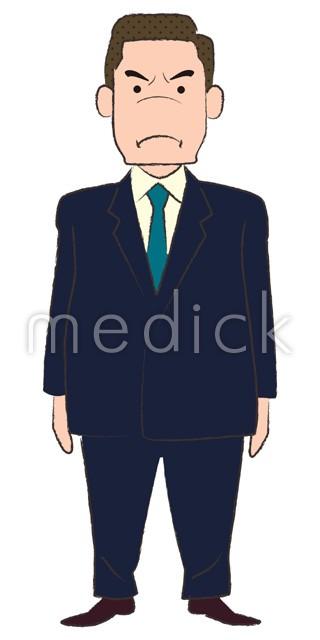 怒る中年男性のイラスト 医療のイラスト写真動画素材販売サイト